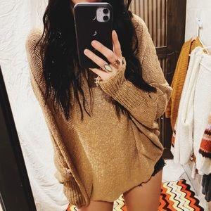 boho oversized sweater